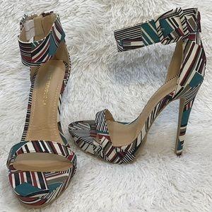 Gasol Multi-color Sandal Buckle Stiletto Heels